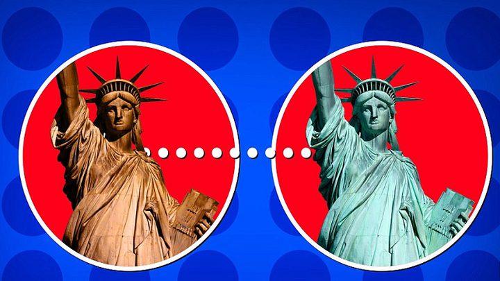 تغيير لون تمثال الحرية... ما السبب؟