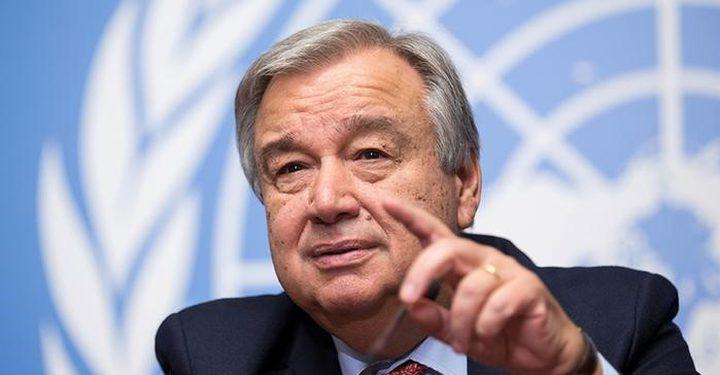 الأمين العام للأمم المتحدة: سأبذل كل جهد ممكن لتحقيق حل الدولتين