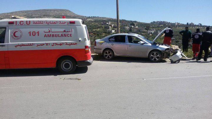 إصابة 6 مواطنين بحوادث سير متفرقة