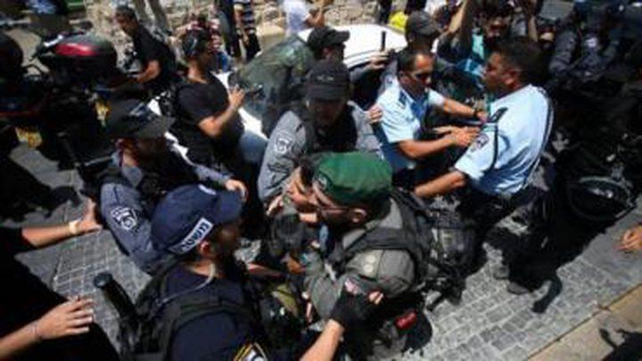 الاحتلال يعتدي على الصحفيين في باب الأسباط