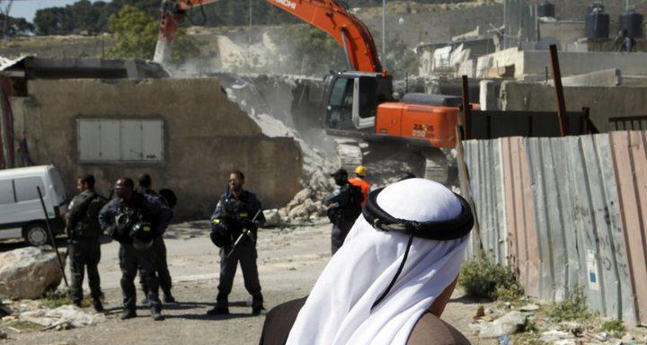 الاحتلال يهدم أجزاء من منزل باللد