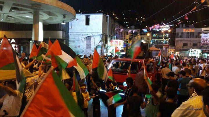 """نابلس: مسيرة نصرة للمسجد الأقصى """"فيديو"""""""