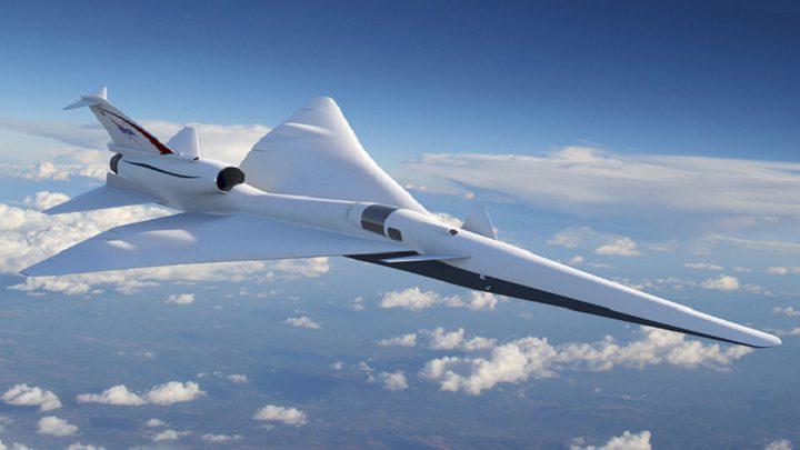 طائرة  هادئة وأسرع من الصوت من ناسا