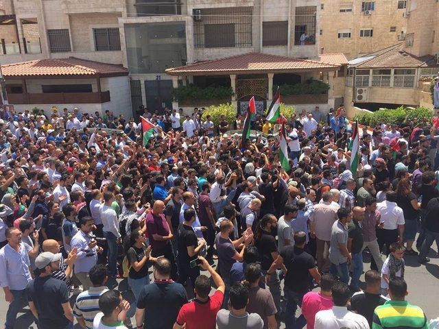 الاردن: مظاهرات دعماً للأقصى