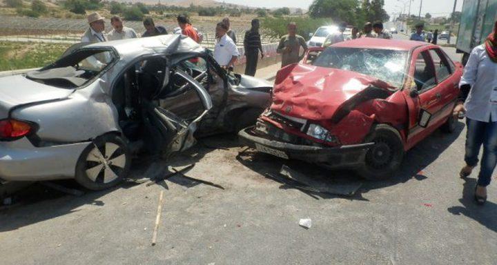 إصابة أربعة مواطنين في حادث سير