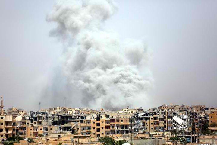 15 قتيلاً بقصف لطائرات التحالف على الرقة