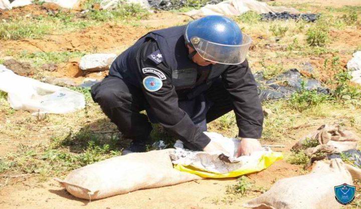 الشرطة تتلف قذيفة مدفعية خطيرة في جنين