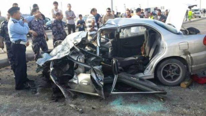مصرع مواطنة واصابة ابنتها في حادث سير في الاردن