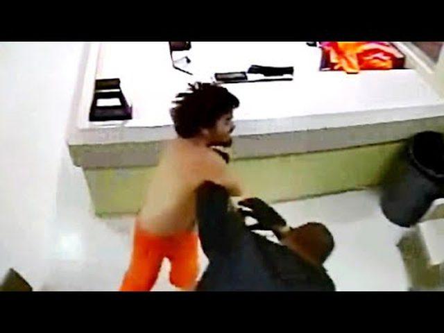 محاولة هروب جنونية لسجين!