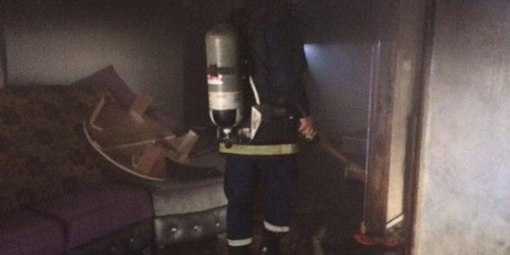 اطفائية بلدية الخليل تُخمد حريقاً