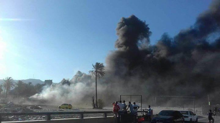 إندلاع حريق ضخم بمصنع بلاستيك في أريحا