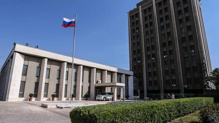 جماعات مسلحة تقصف السفارة الروسية بدمشق