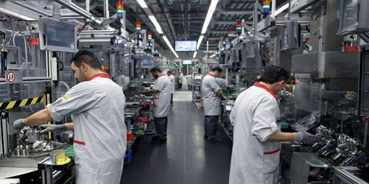 انخفاض الرقم القياسي لكميات الإنتاج الصناعي خلال شهر حزيران