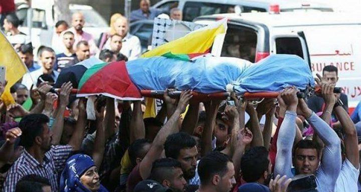 تشييع جثمان الشهيد الحرباوي في الخليل