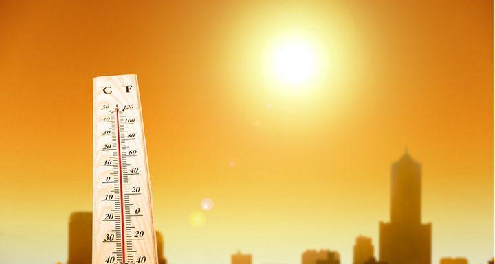 حالة الطقس: الحرارة أعلى من معدلها السنوي بحدود ثلاث درجات