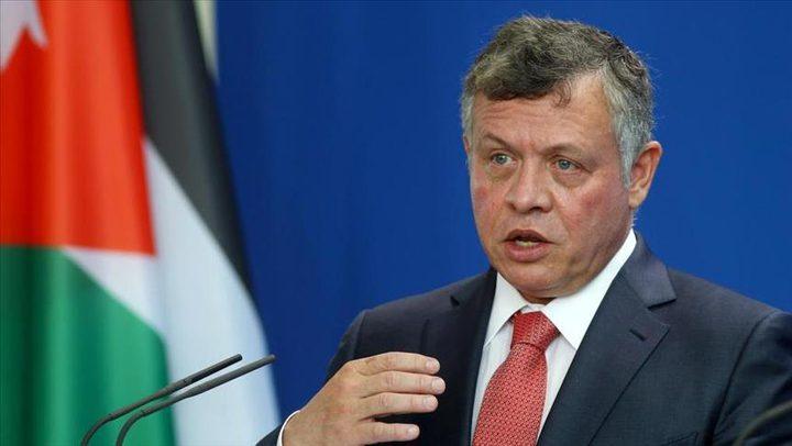 العاهل الأردني: القضية الفلسطينية على المحك ويجب مضاعفة الجهود