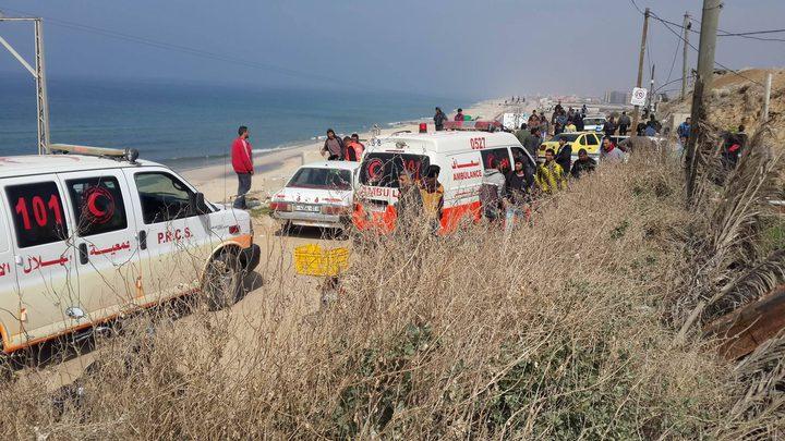 إصابة خمسة صيادين في حادث سير في غزة