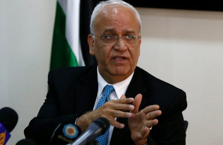 عريقات: الرئيس ناقش مع ملك الأردن ضرورة تحديد أمريكا هدف عملية السلام