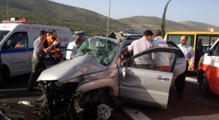 إصابتان بحادث سير غرب نابلس