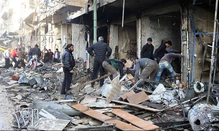 سوريا تواصل انتهاك الهدنة بالغوطة وروسيا تعزز وجودها العسكري