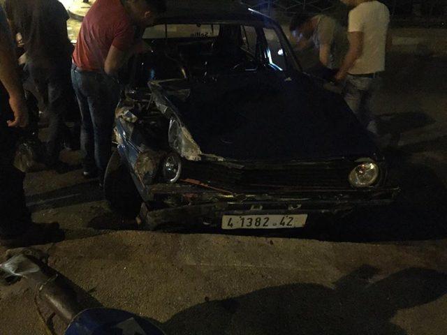 بالصور: الحادث الخامس في نابلس..ثلاث إصابات حتى الآن!