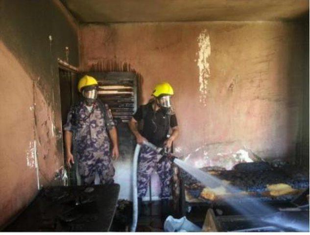 اندلاع حريق في منزل جنوب نابلس