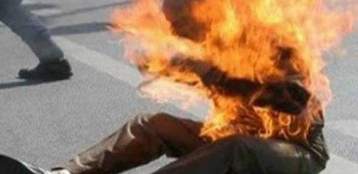 سائق عمومي يحرق نفسه في رفح