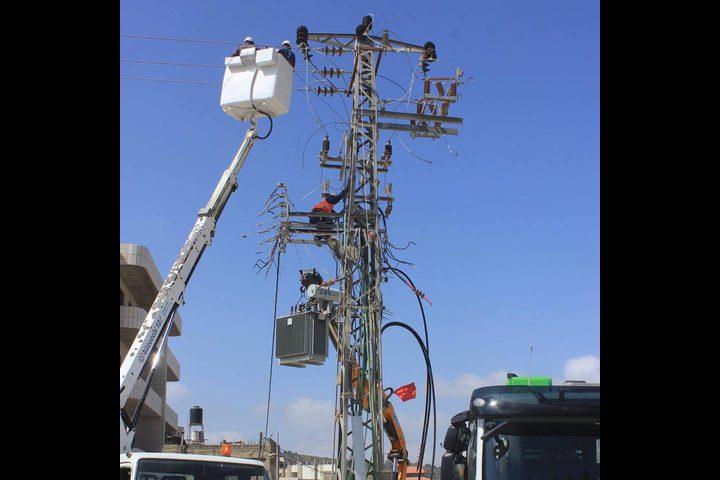 فصل التيار الكهربائي عن عدة مناطق في نابلس