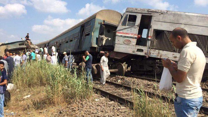 قتلى وجرحى في تصادم قطارين بمصر