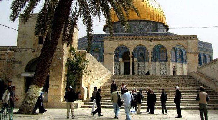 مستوطنون ومخابرات الاحتلال يقتحمون باحات المسجد الأقصى