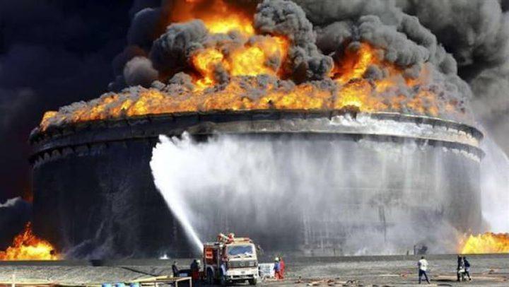 """اندلاع حريق ضخم بمصفاة وقود في """"أشدود"""""""