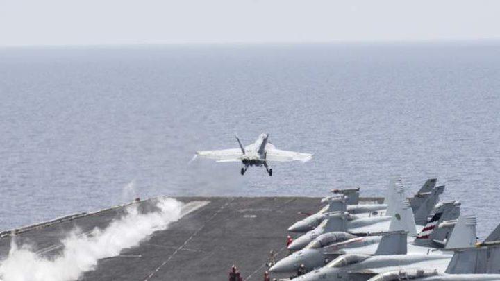 طائرة ايرانية تقترب من حاملة أميركية في مياه الخليج