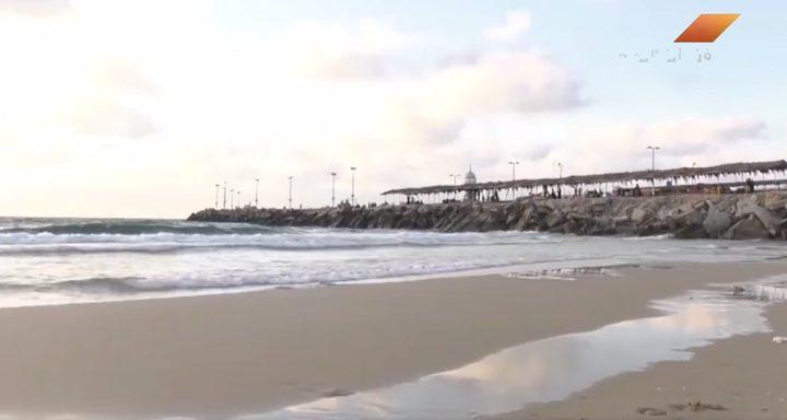 تلوث مياه بحر قطاع غزة