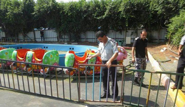 الدفاع المدني يوقف عمل متنزهين ومدينة للملاهي