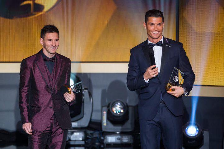 رونالدو وميسي يتصدران قائمة المرشحين لجائزة الفيفا لأفضل لاعب في العالم