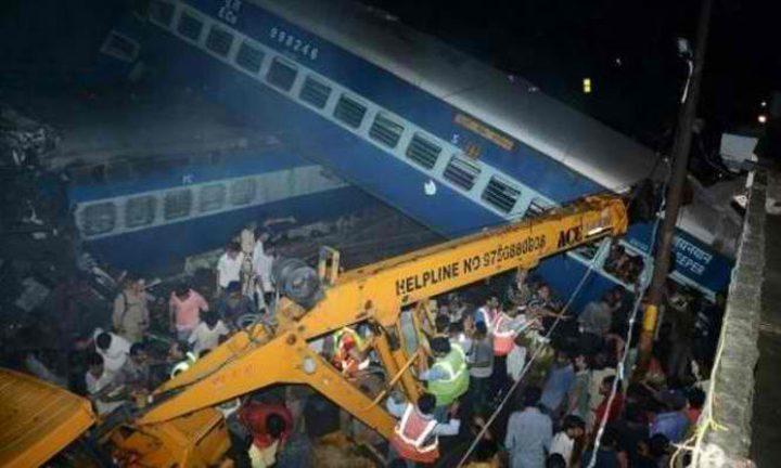 مصرع 23 شخصًا و إصابة 64 اخرين في حادث قطار بالهند
