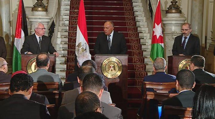 وزراء خارجية عرب: يجب تكثيف جهود المجتمع الدولي لتحقيق حل الدولتين