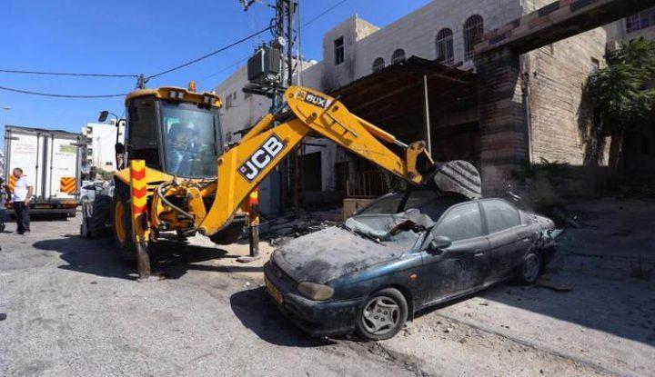 إتلاف 120 مركبة غير قانونية في نابلس