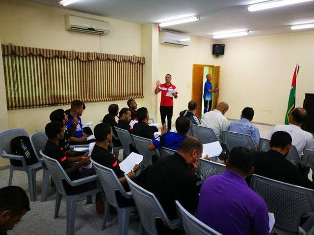 اتحاد الكرة يختتم دورة الحكام والمُقيمين في غزة