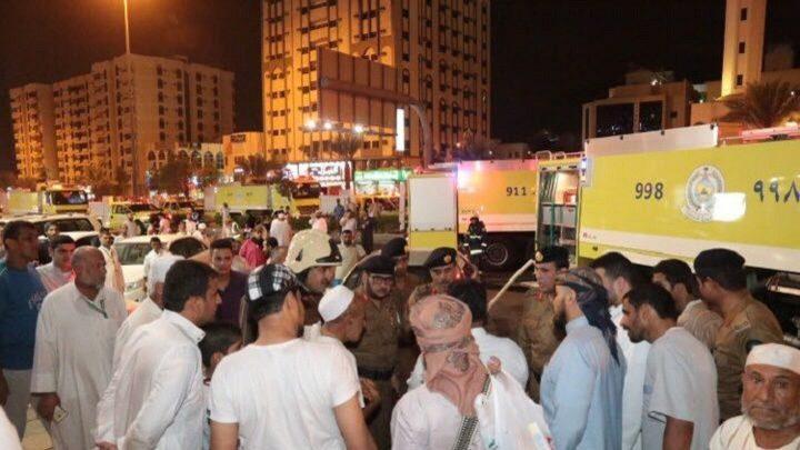 إجلاء 600 حاج جراء حريق بفندق في مكة
