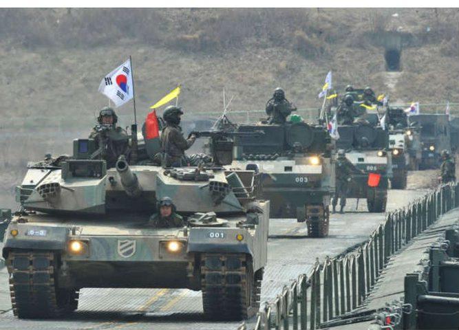اجواء من التوتر ...بدء مناورات أميركية وكورية جنوبية