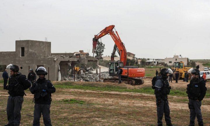 مخطط إسرائيلي يهدد 50 ألف فلسطيني بالنقب