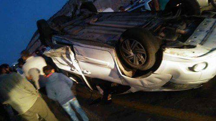 ست إصابات بحادث تتابع جنوب الخليل (صور)