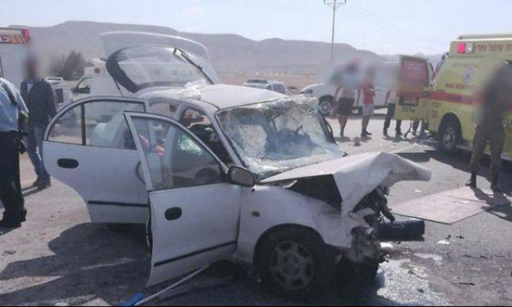 بالفيديو: إصابات خطيرة في حادث طرق قرب البحر الميت