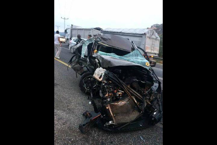 حادث سير على طريق نابلس- رام الله (صور)