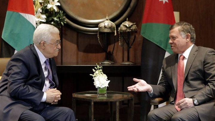 الرئيس يبحث مع العاهل الأردني تطورات السلام