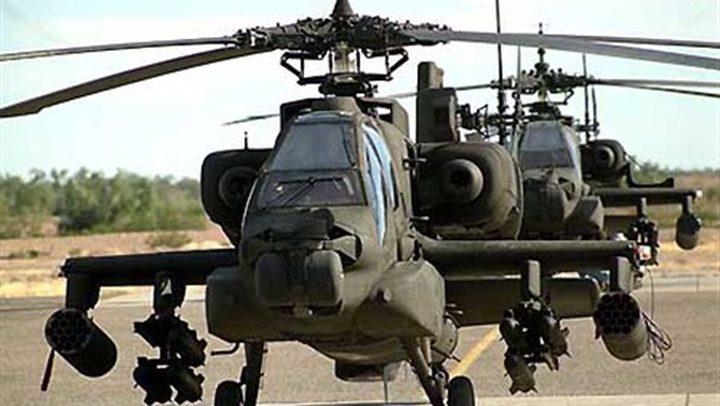 """جيش الاحتلال يقرر مواصلة حظر طيران """"الأباتشي"""""""
