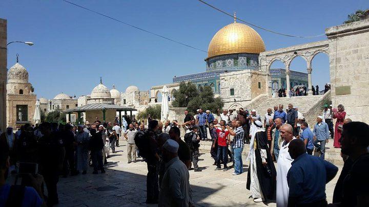 """إقتحامات جديدة للأقصى و""""الأوقاف"""" تواصل إغلاق مسجد الصخرة"""