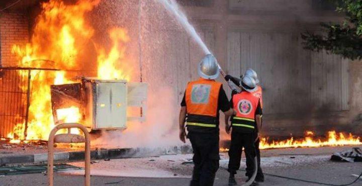 اندلاع حريق في أحد المنازل بسلفيت