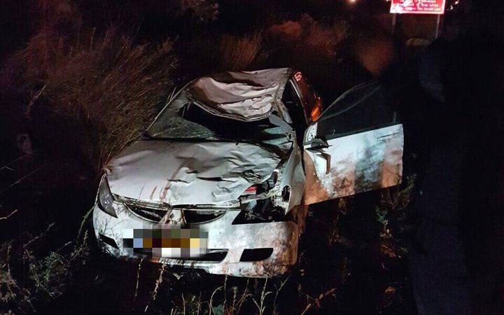 سبع اصابات بحادث سير بين مركبة فلسطينية وأخرى تحمل لوحة اسرائيلية غرب نابلس
